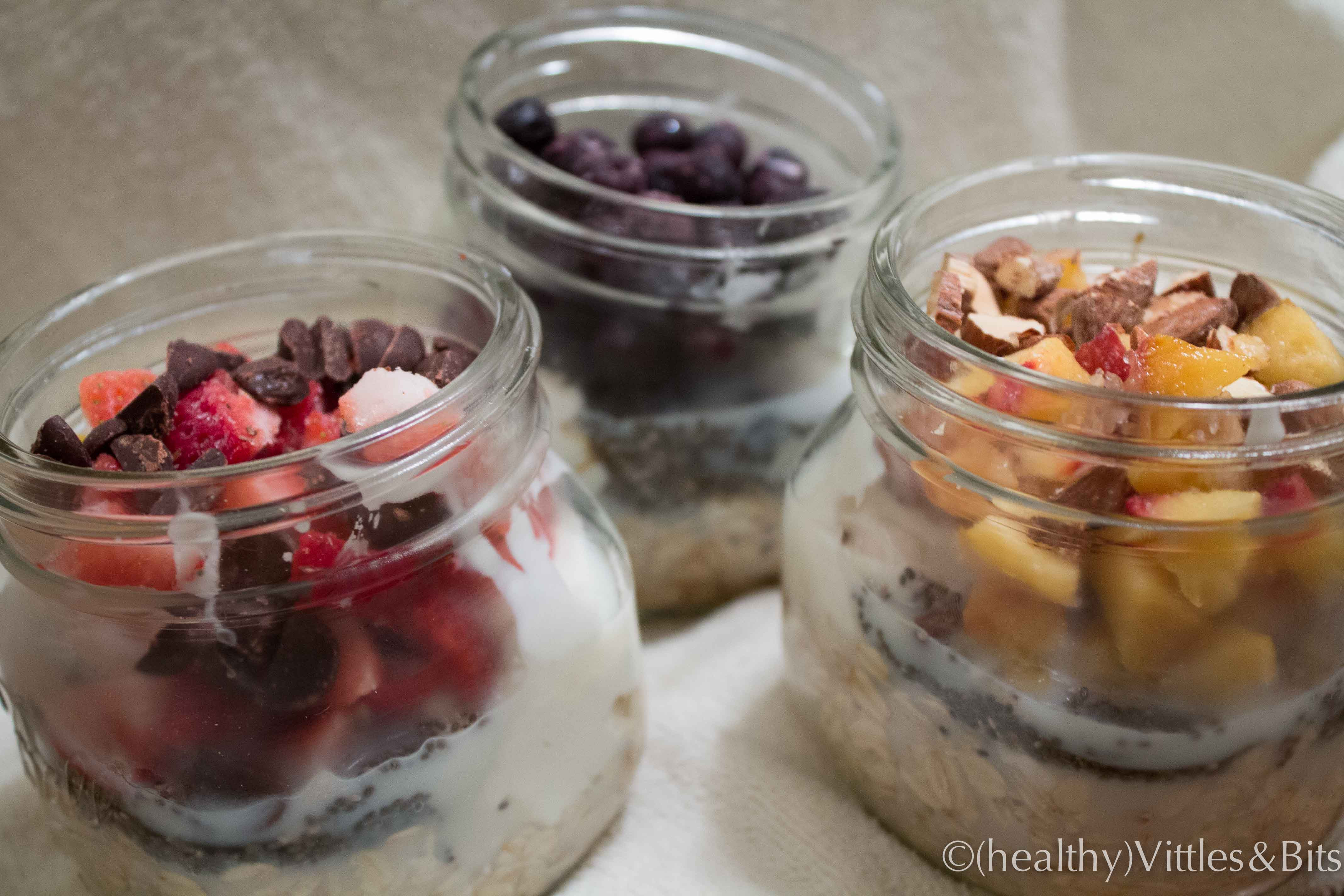 Healthy Overnight Oats Recipe  Sunday Meal Prep 2 healthy Vittles and Bits