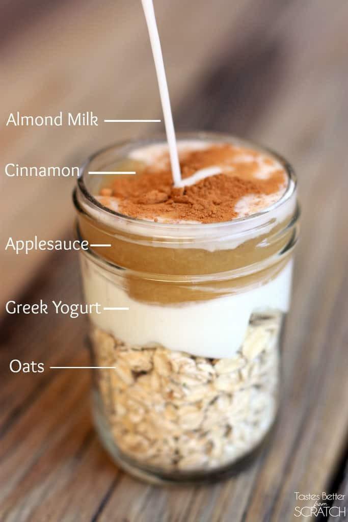 Healthy Overnight Oats Recipe  Cinnamon Apple Overnight Oats Tastes Better From Scratch