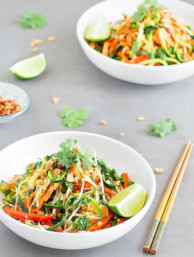 Healthy Pad Thai Recipe  Easy and Healthy Pad Thai Zoodles As Easy As Apple Pie