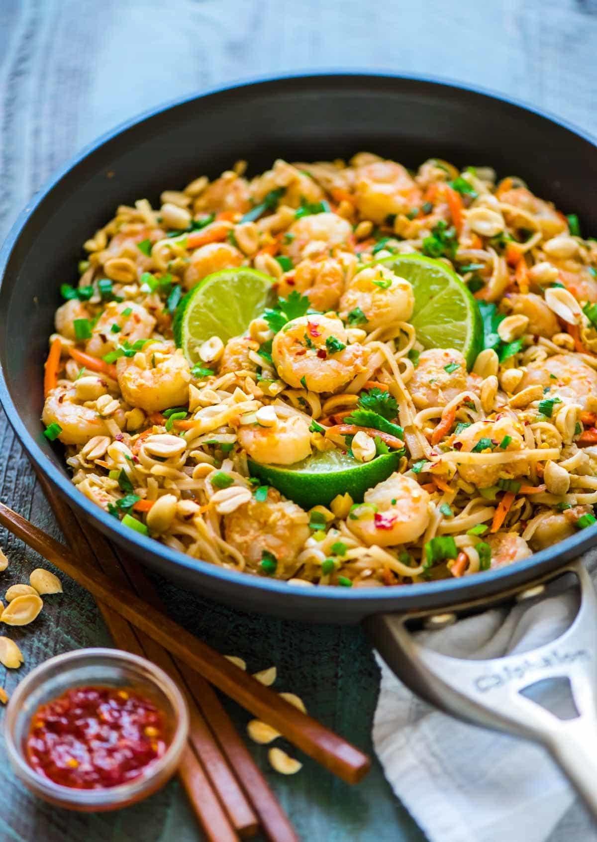 Healthy Pad Thai Recipe  Healthy Shrimp Pad Thai