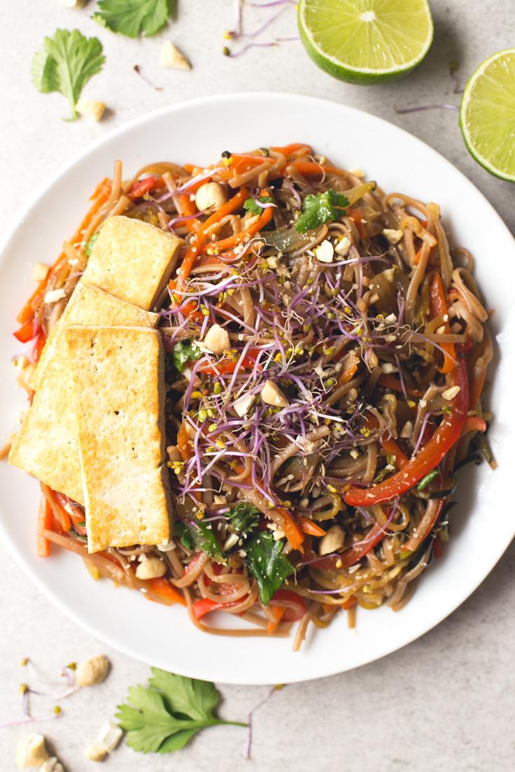 Healthy Pad Thai Recipe  Vegan Pad Thai