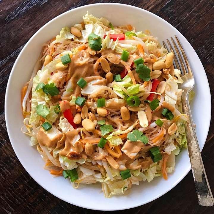 Healthy Pad Thai Sauce  Ve arian Pad Thai with a Sweet Savory Peanut Sauce