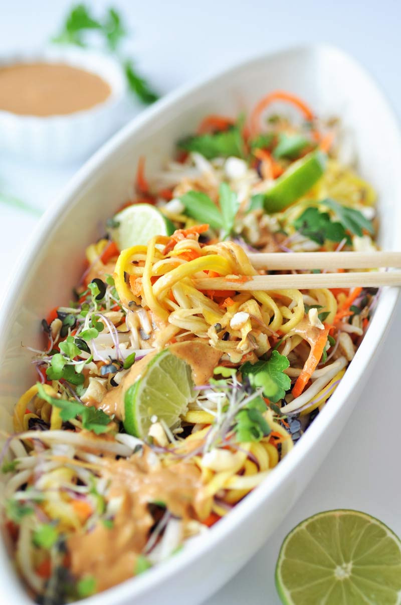 Healthy Pad Thai Sauce  Raw Super Sprouts Pad Thai with Spicy Peanut Sauce