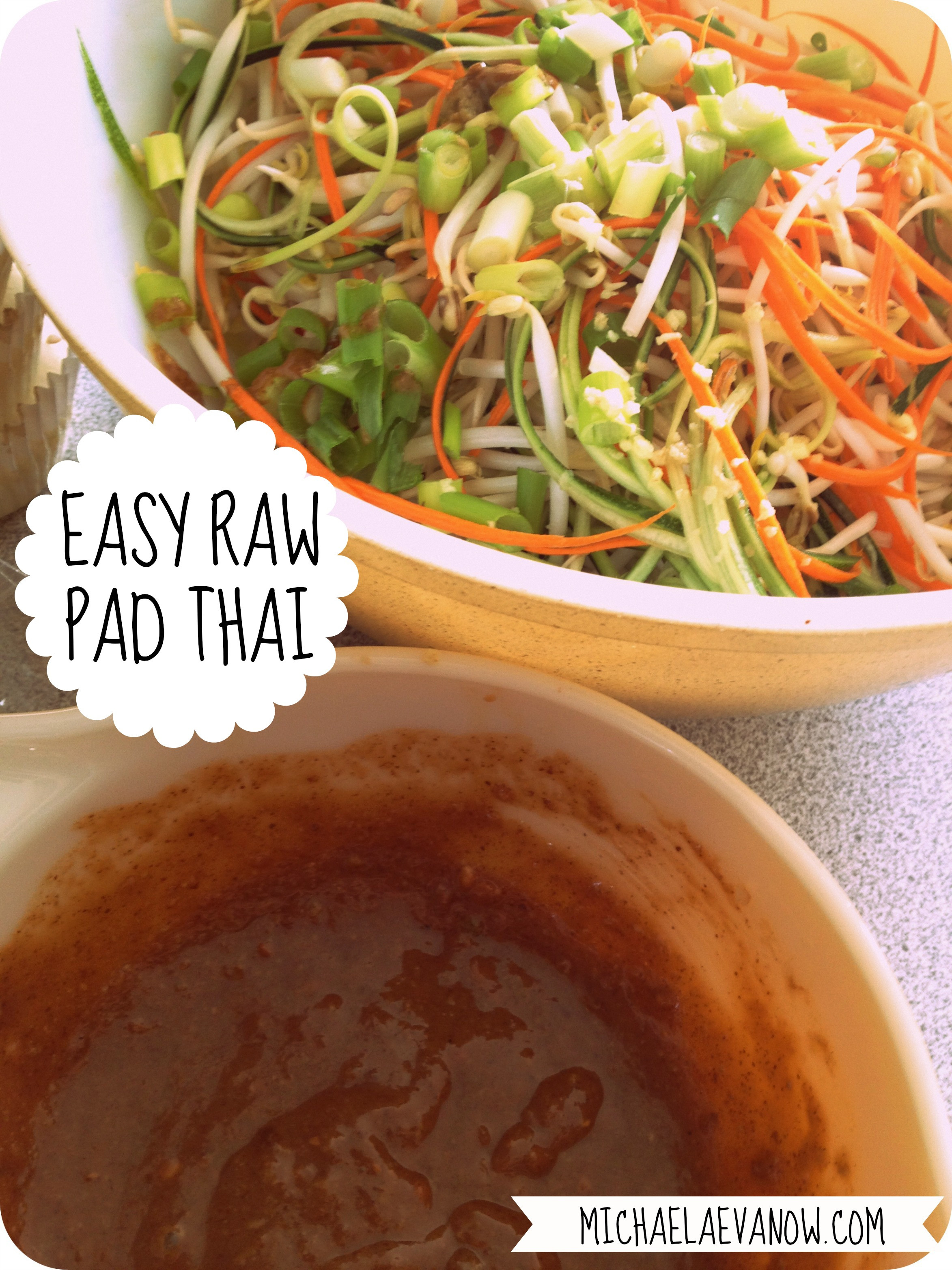 Healthy Pad Thai Sauce  savouring the end of summer raw pad thai – Michaela Evanow