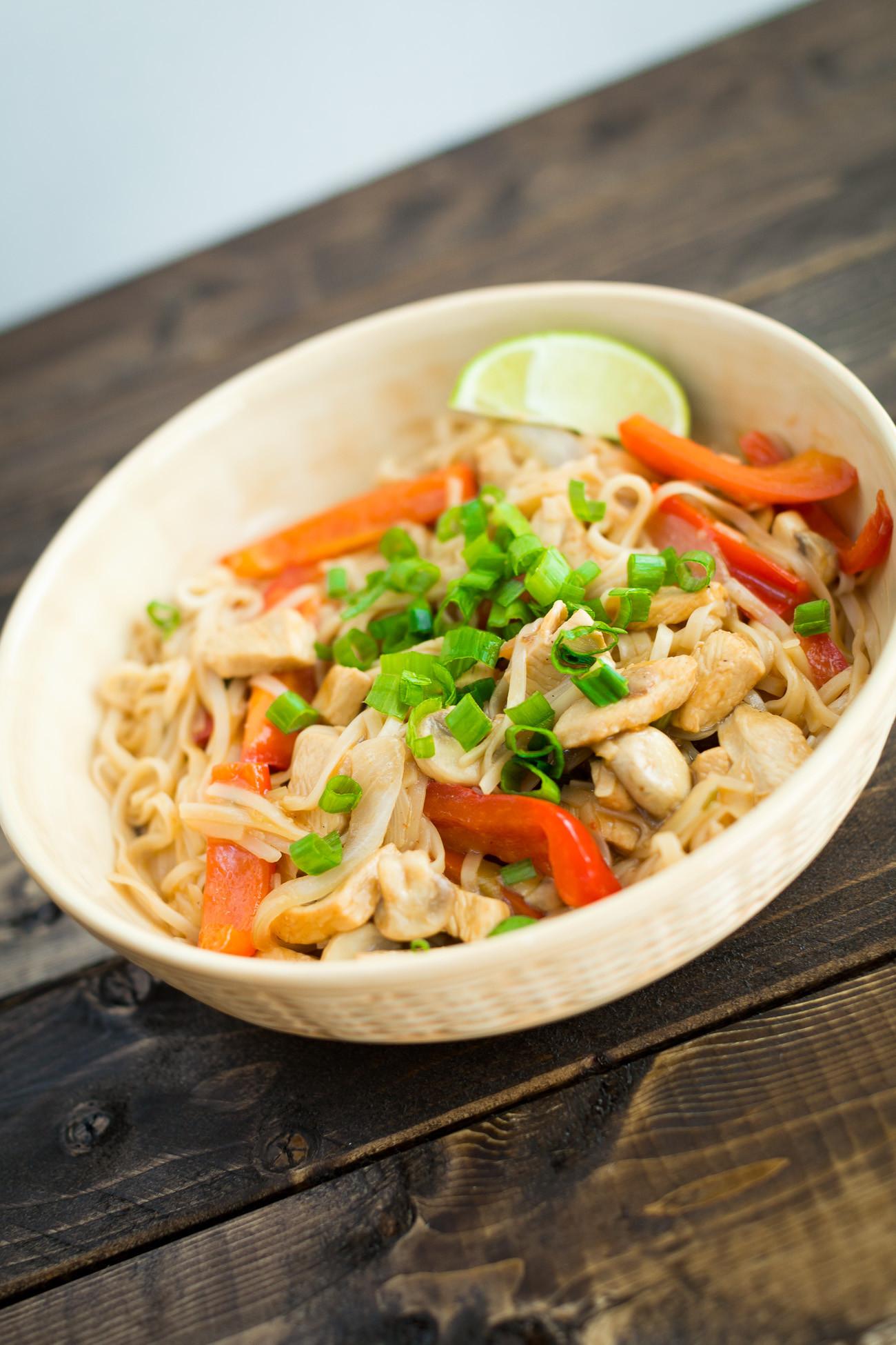 Healthy Pad Thai Sauce  Healthy Chicken Pad Thai Recipe