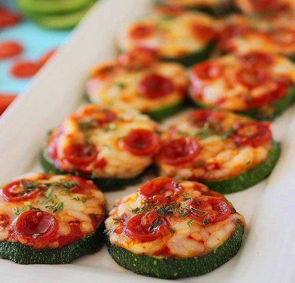 Healthy Paleo Snacks  Zucchini Pizza Bites nom nom paleo snack