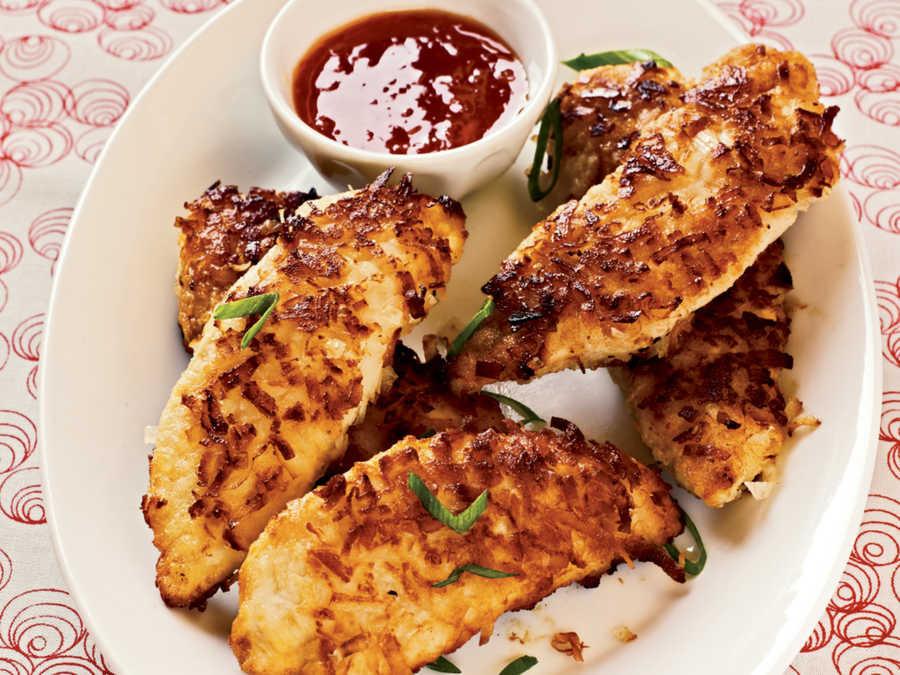 Healthy Pan Fried Chicken  Pan Frying Coconut Chicken Fingers 50 Healthy Chicken