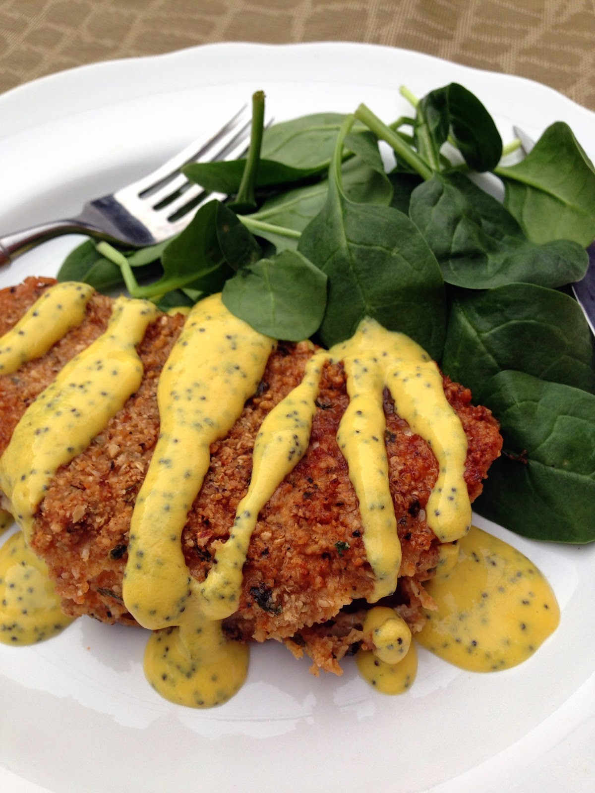"""Healthy Pan Fried Chicken  taylor made healthy pan """"fried"""" chicken with poppyseed"""