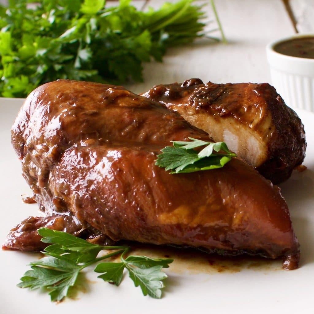 Healthy Pan Fried Chicken  Pan Fried Rhubarb Chicken