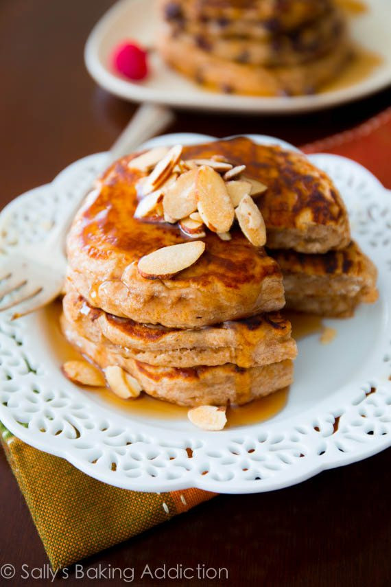 Healthy Pancakes From Scratch  whole wheat oatmeal pancakes from scratch