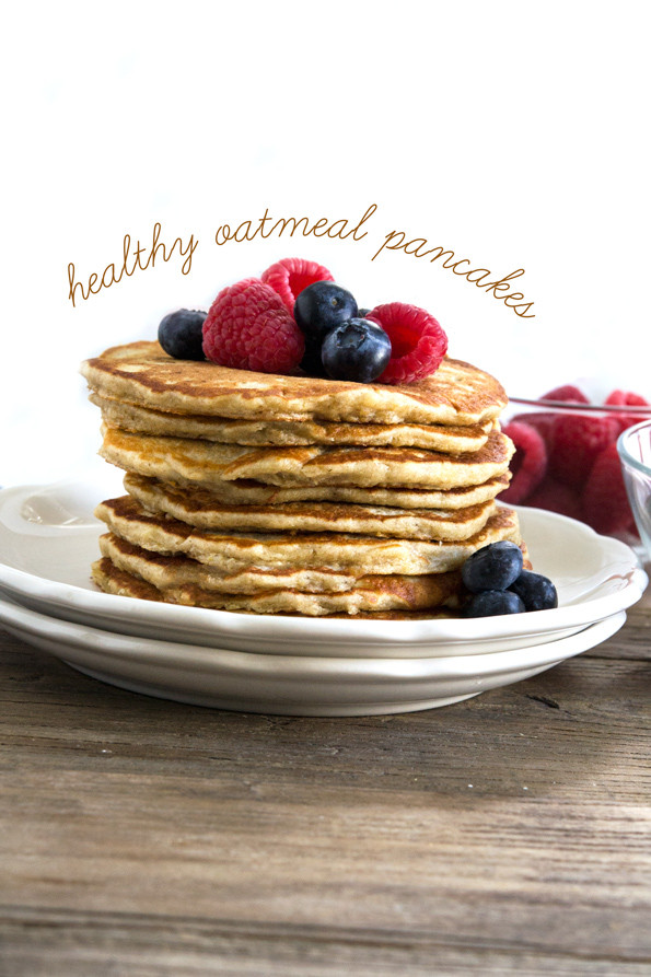 Healthy Pancakes From Scratch  Gluten Free Oatmeal Pancakes