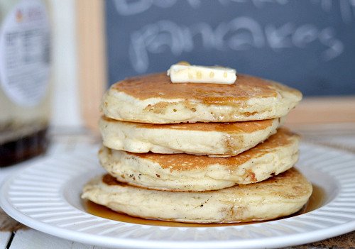 Healthy Pancakes From Scratch  healthy buttermilk pancakes from scratch