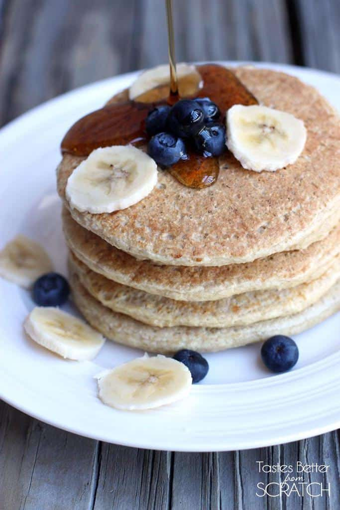 Healthy Pancakes From Scratch  Protein Pancakes recipe Tastes Better From Scratch