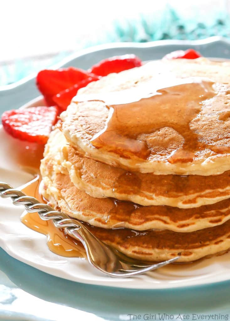 Healthy Pancakes Recipe  Healthy Oatmeal Pancakes The Girl Who Ate Everything