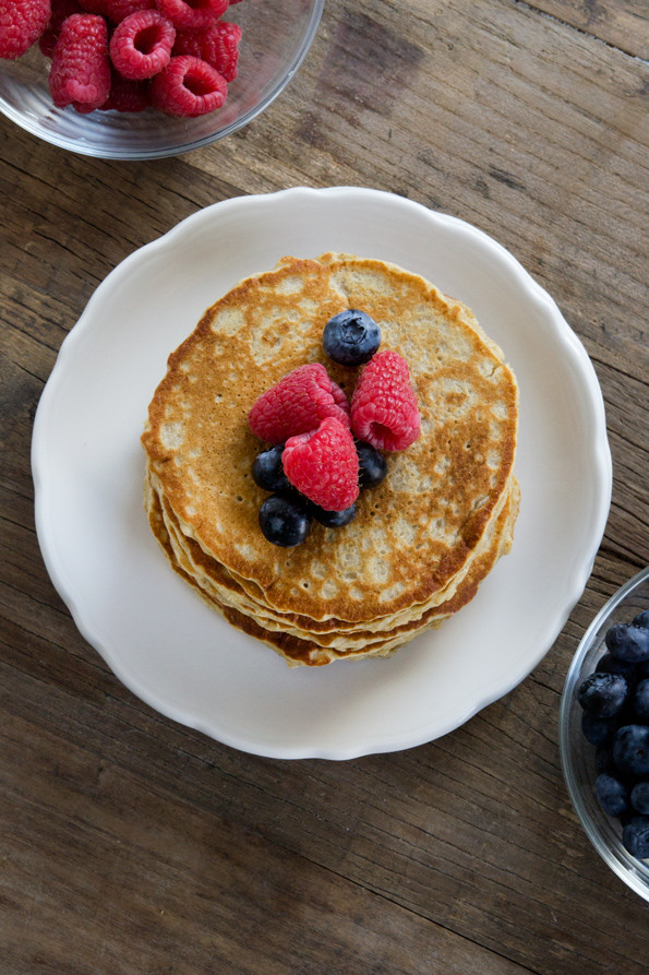 Healthy Pancakes With Oats  Gluten Free Oatmeal Pancakes