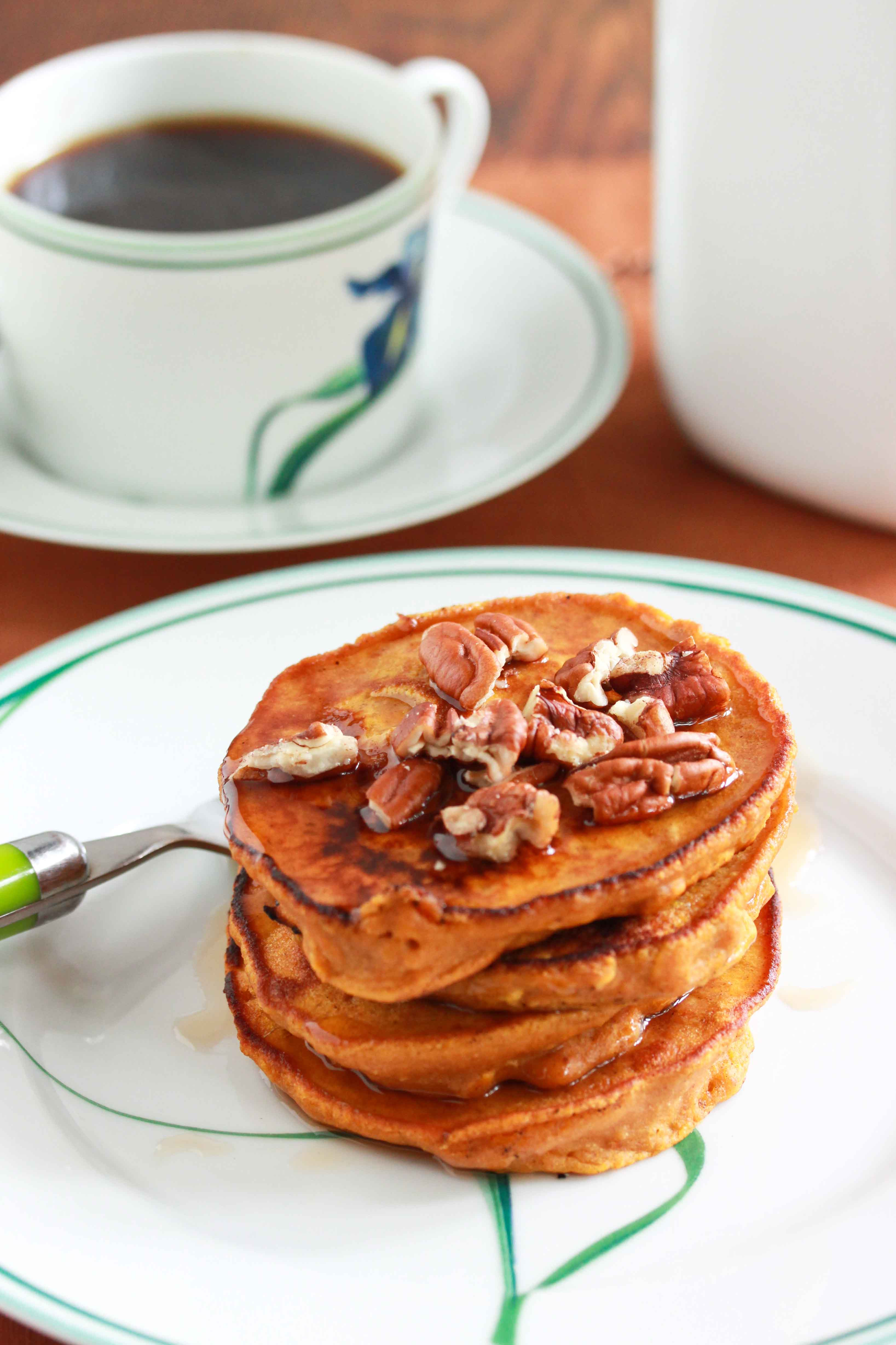 Healthy Pancakes With Oats  Healthy Oatmeal Pumpkin Pancakes Overtime Cook