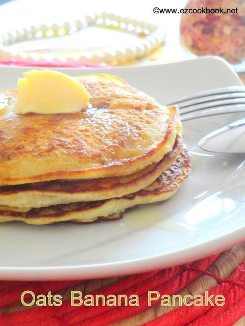 Healthy Pancakes With Oats  Easy Peasy healthy eggless oats banana pancake