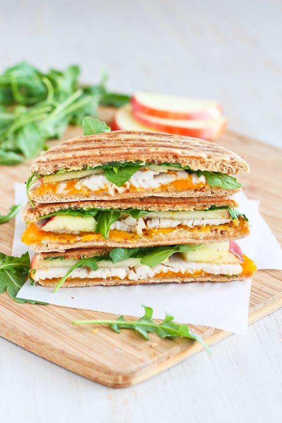 Healthy Panini Recipes  Turkey Panini Recipe with Apple Cheddar & Arugula