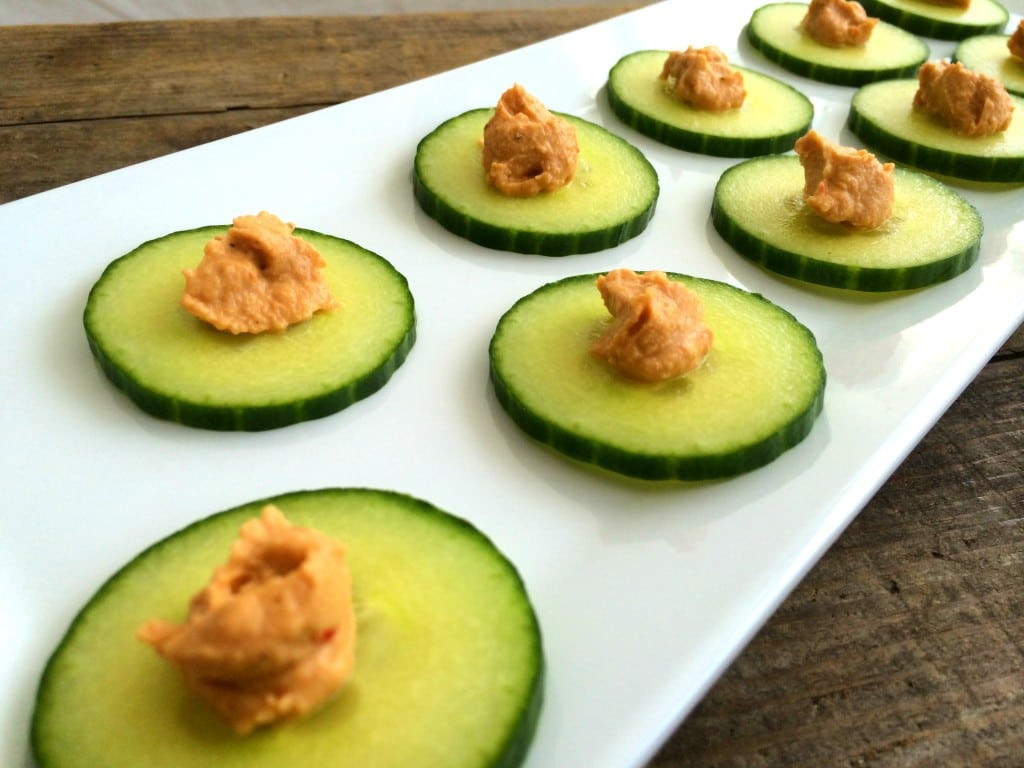 Healthy Party Appetizers  Cucumber Chips Healthy Party Appetizer