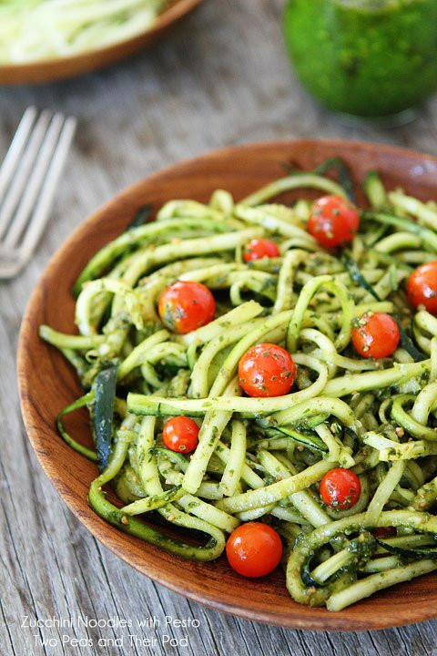 Healthy Pasta Noodles  Zucchini Noodles with Pesto