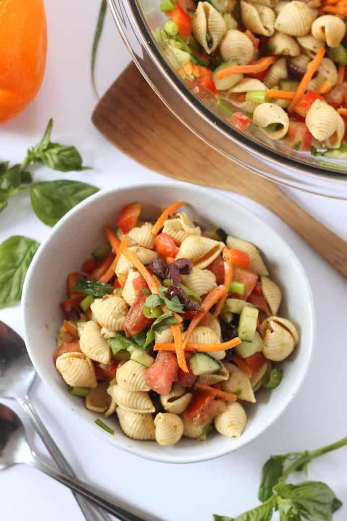 Healthy Pasta Salad  Healthy Pasta Salad Vegan Hummusapien