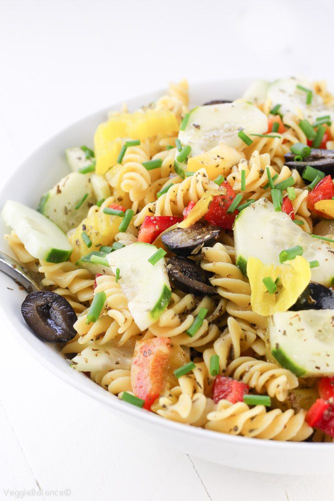 Healthy Pasta Salad Dressing  Healthy Italian Pasta Salad Homemade Italian Dressing