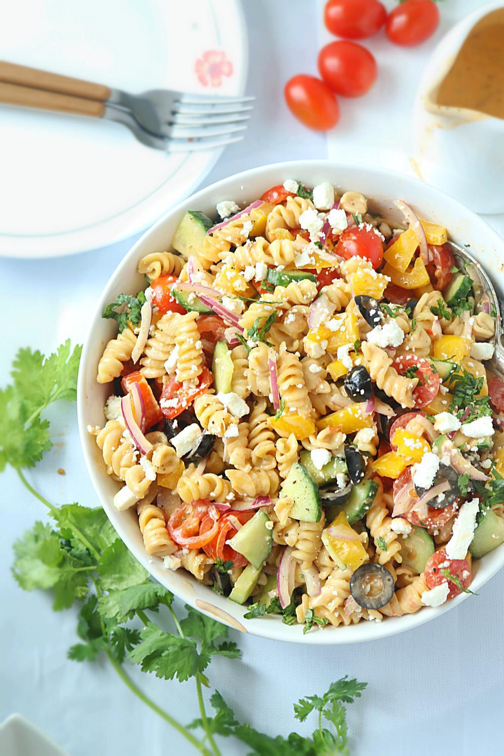 Healthy Pasta Salad Dressing  No Cook Healthy Pasta Salad Healthy veggie pasta salad
