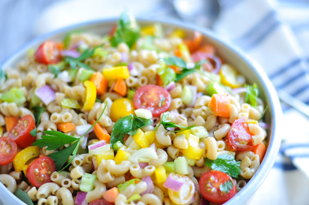 Healthy Pasta Salad Dressing  Garden Pasta Salad with Homemade Italian Dressing — Real