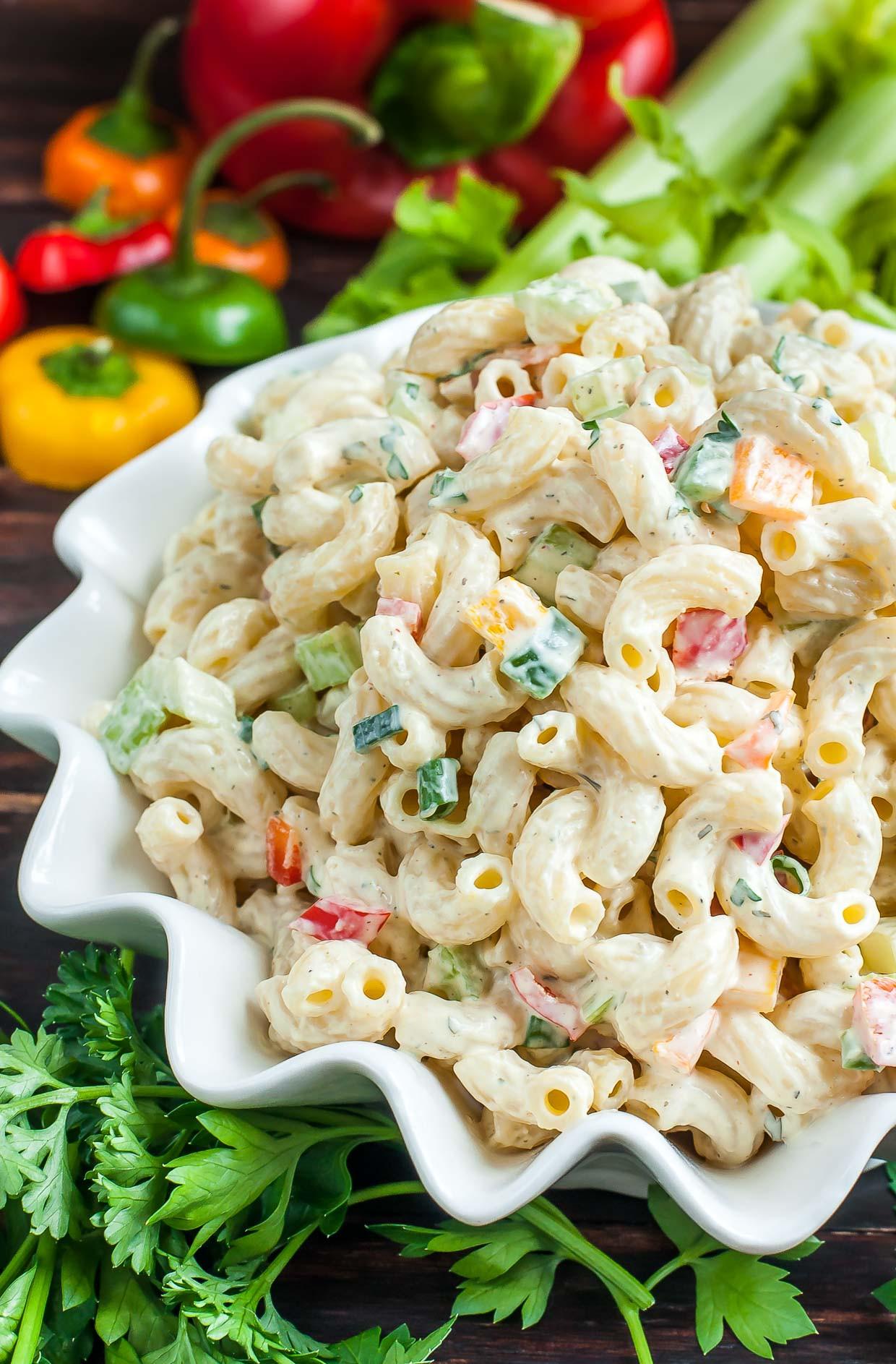 Healthy Pasta Salad Recipes  Homestyle Macaroni Salad