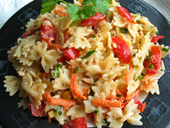Healthy Pasta Salad Recipes  Healthy Tuna And Pasta Salad Recipe Genius Kitchen