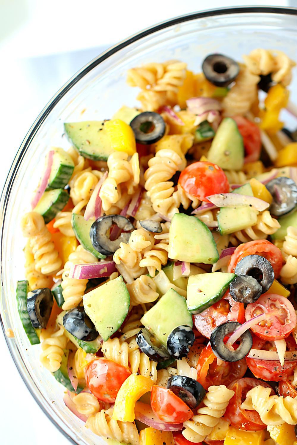 Healthy Pasta Salad Recipes  No Cook Healthy Pasta Salad Healthy veggie pasta salad