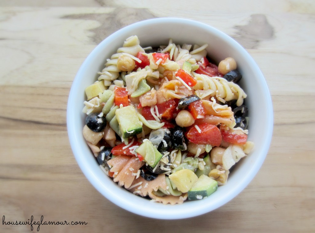 Healthy Pasta Salad Vegetarian  Light Healthy Ve able Pasta Salad