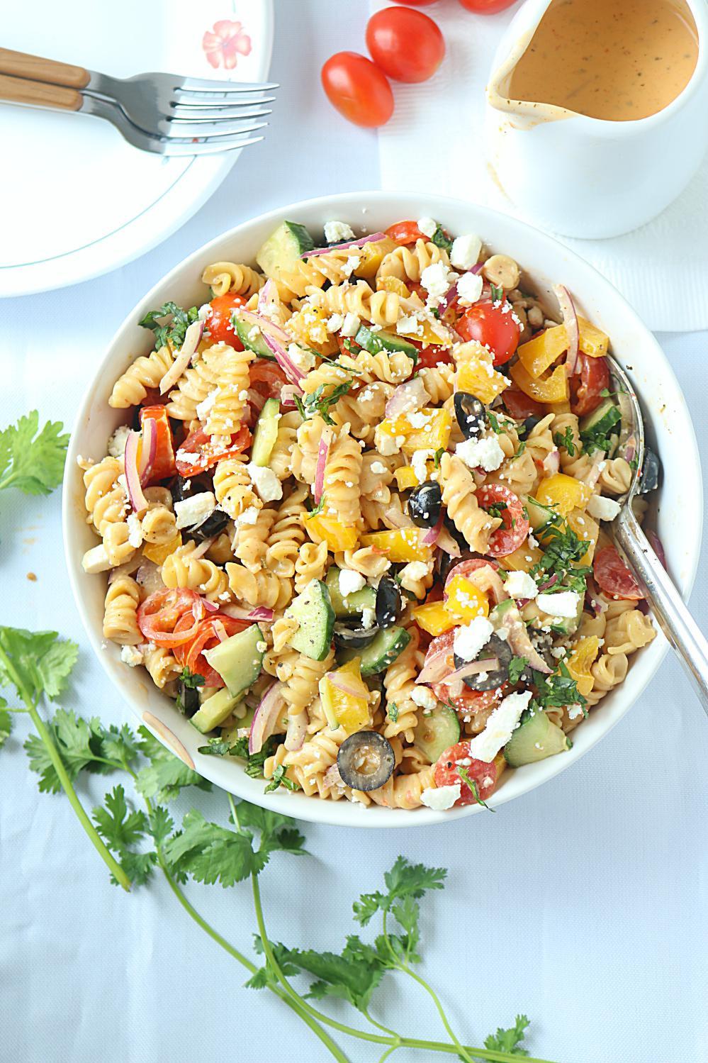 Healthy Pasta Salads  No Cook Healthy Pasta Salad Healthy veggie pasta salad