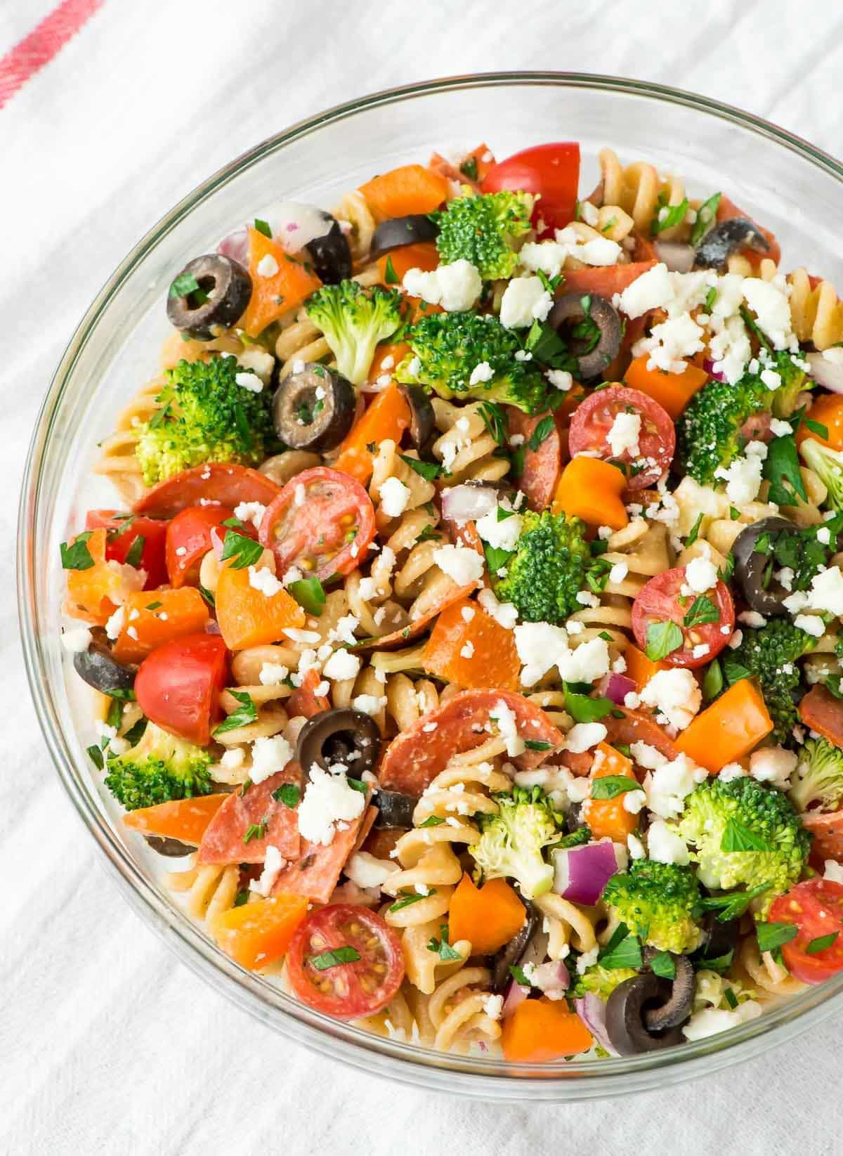 Healthy Pasta Salads  Healthy Pepperoni Pasta Salad