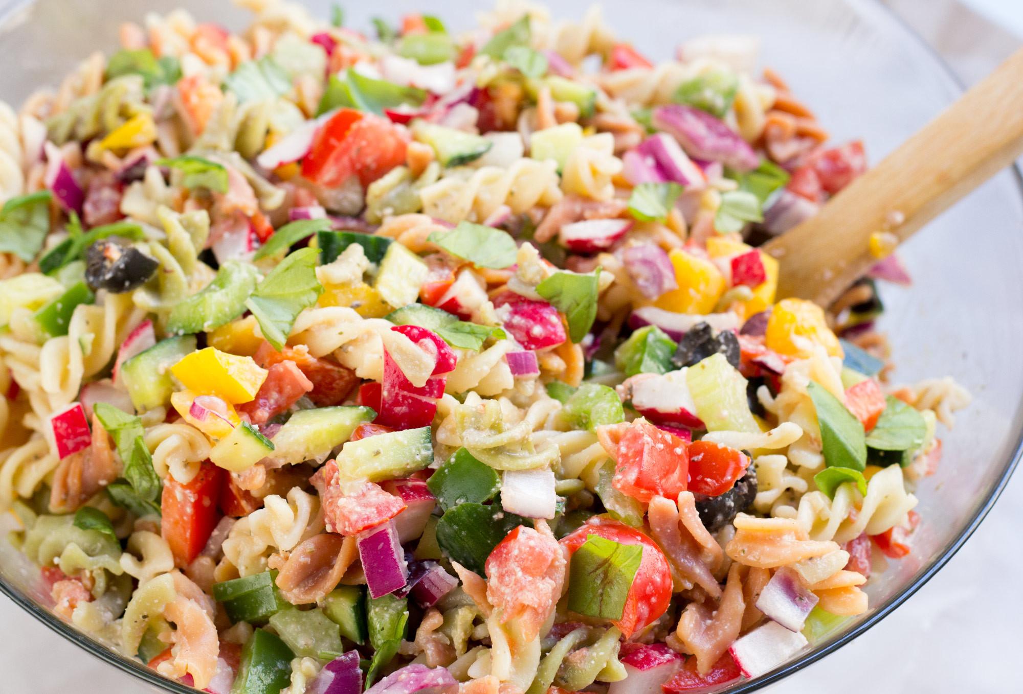 Healthy Pasta Salads  Healthy Rainbow Pasta Salad