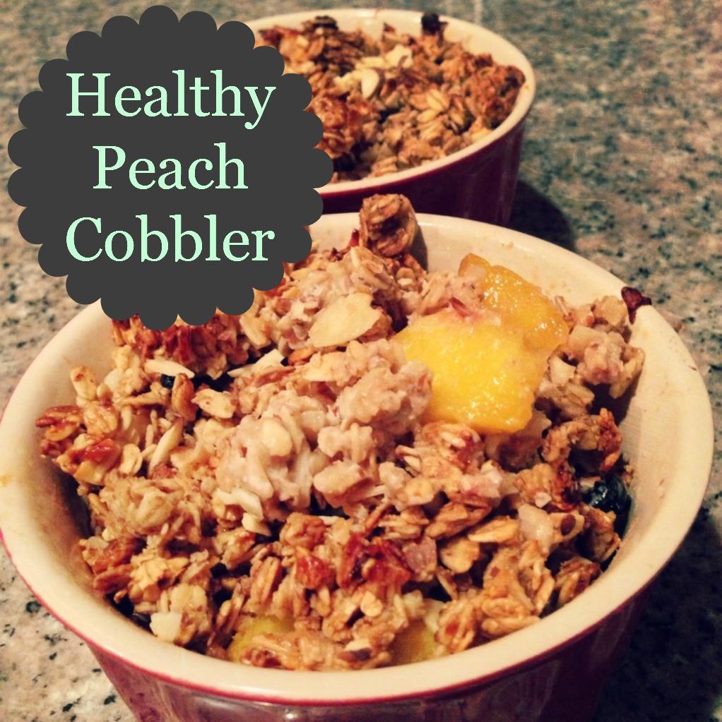 Healthy Peach Cobbler  For Love of a Cupcake HEALTHY Peach Cobbler r two
