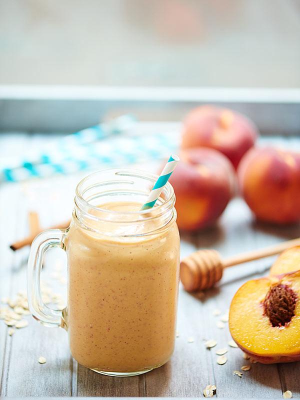 Healthy Peach Cobbler  Healthy Peach Cobbler Smoothie Ve arian & Gluten Free