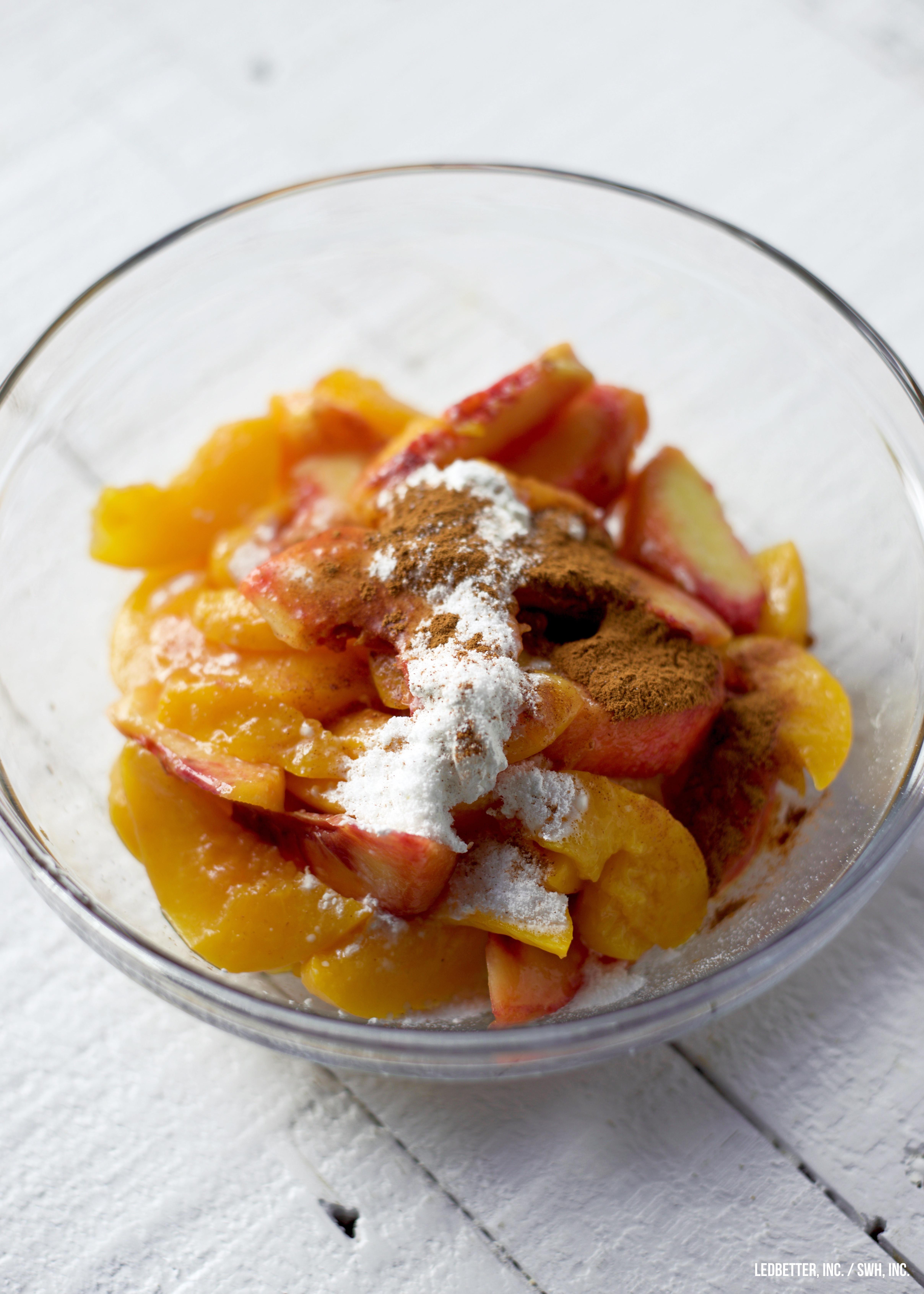 Healthy Peach Cobbler  Healthy Peach Cobbler
