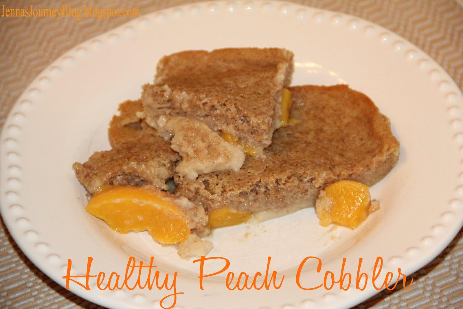 Healthy Peach Cobbler  Jenna Blogs Healthy Peach Cobbler