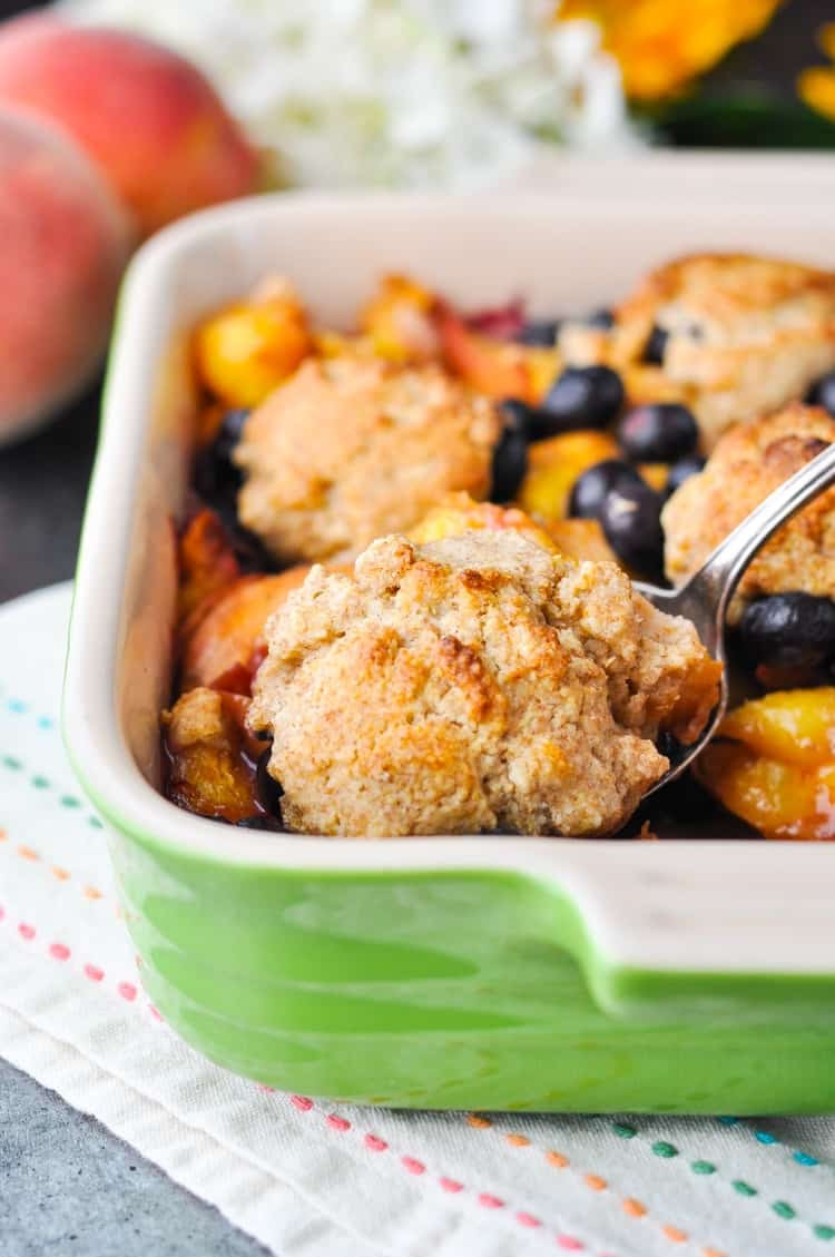 Healthy Peach Desserts  Healthy Blueberry Peach Cobbler Our Week in Meals 32