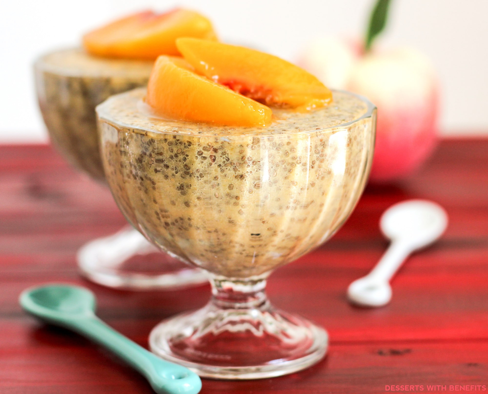 Healthy Peach Desserts  Healthy Ginger Peach Chia Seed Pudding Recipe
