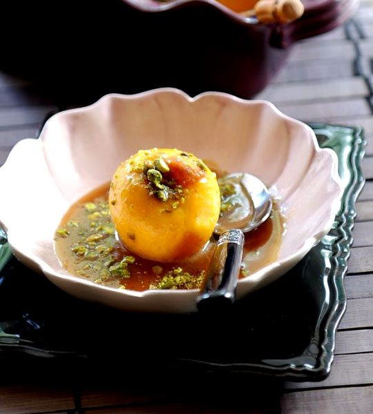 Healthy Peach Desserts  Baked Peaches and Caramel Sauce recipe – Baked Peach