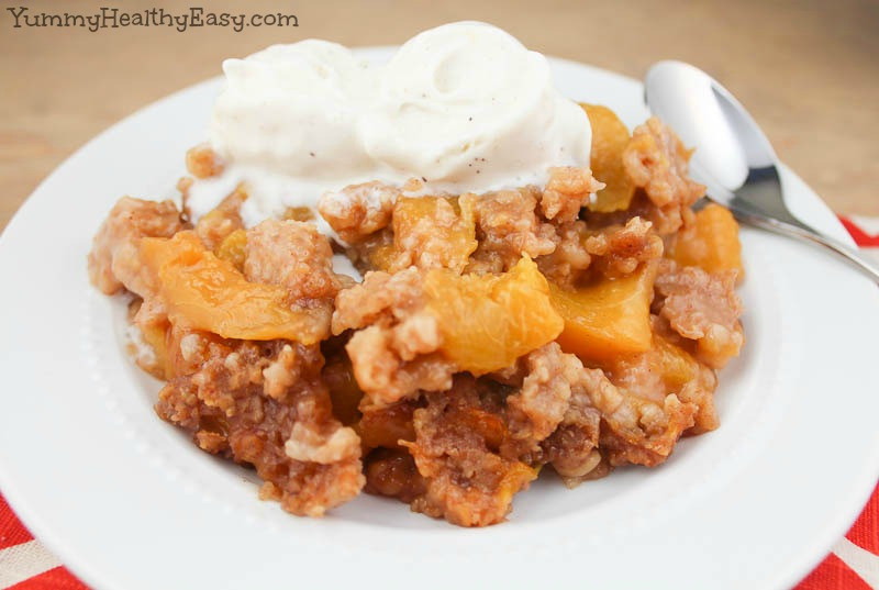 Healthy Peach Desserts  Slow Cooker Peach Cobbler Yummy Healthy Easy