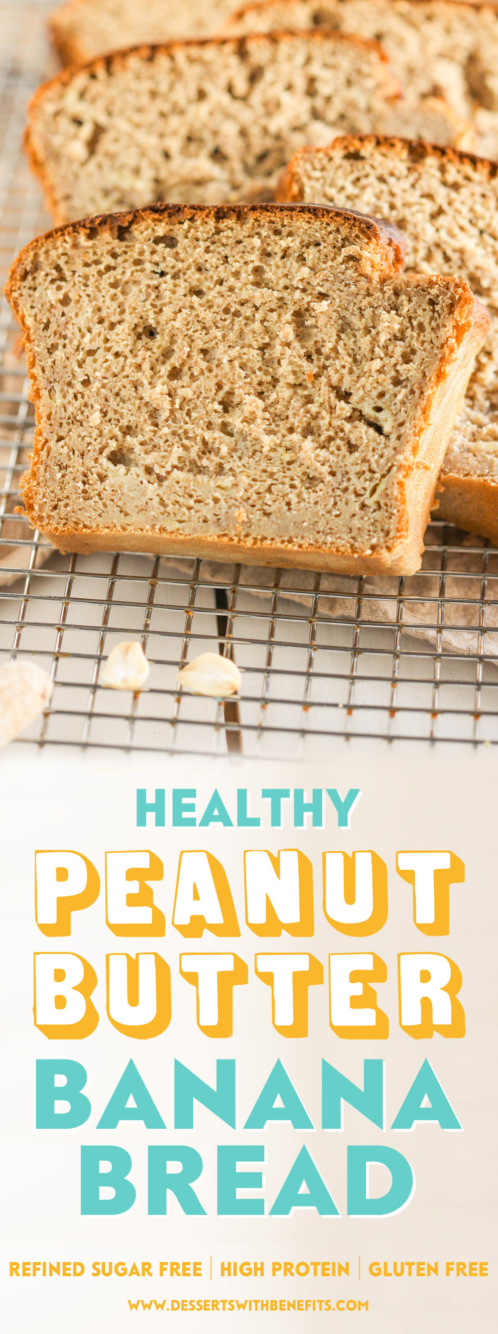 Healthy Peanut Butter Banana Bread  Healthy Peanut Butter Banana Bread Recipe