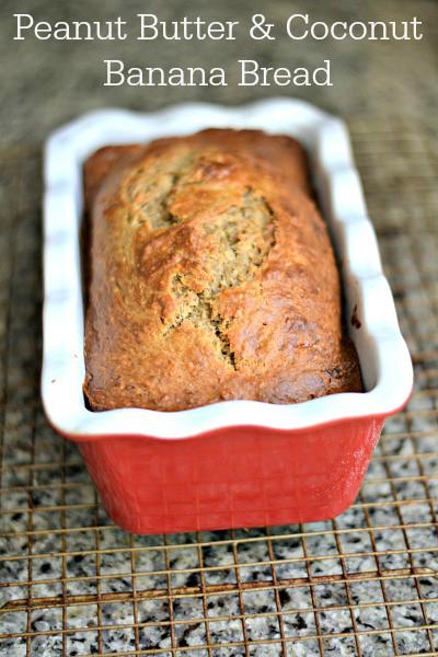 Healthy Peanut Butter Banana Bread  Healthy ish Peanut Butter & Coconut Banana Bread