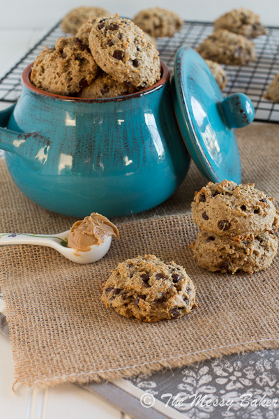 Healthy Peanut Butter Banana Cookies  20 Lightened Up Dessert Recipes Cookie Dough and Oven Mitt