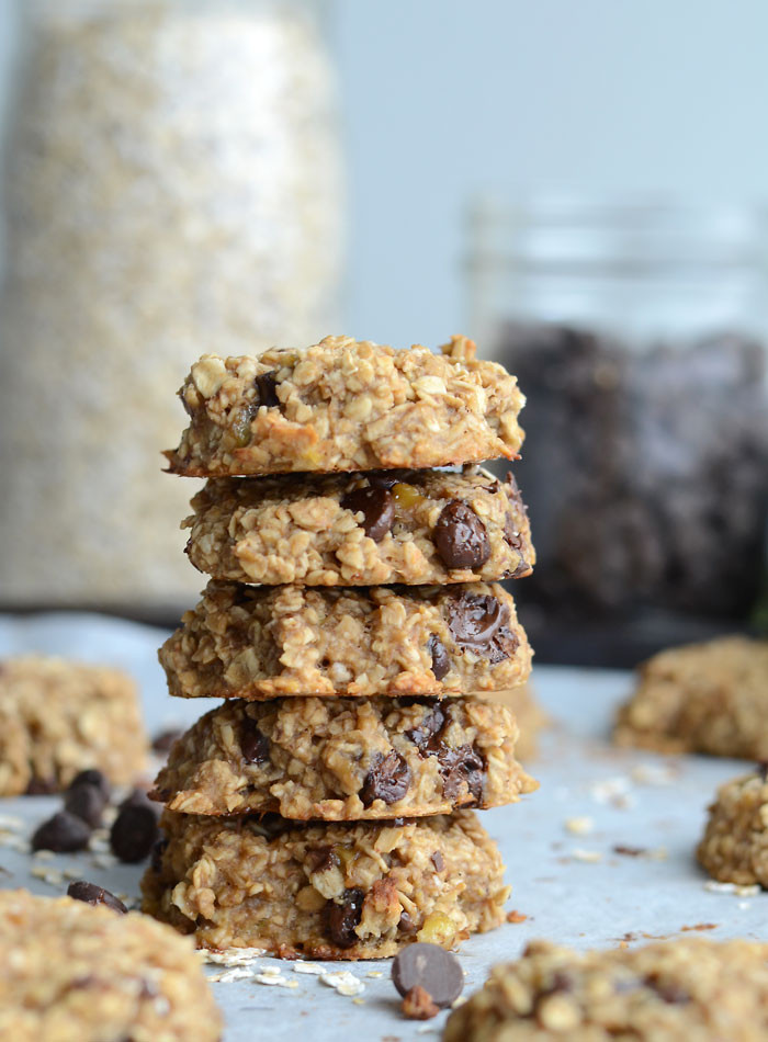Healthy Peanut Butter Banana Cookies  Flourless Peanut Butter Banana Oatmeal Cookies Vegan