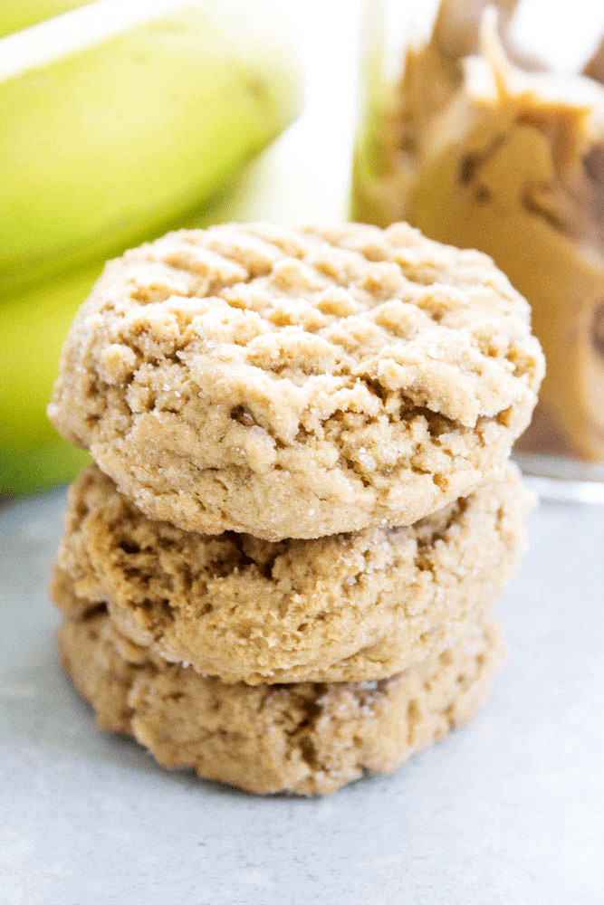 Healthy Peanut Butter Banana Cookies  HEALTHY PEANUT BUTTER BANANA COOKIES A Dash of Sanity