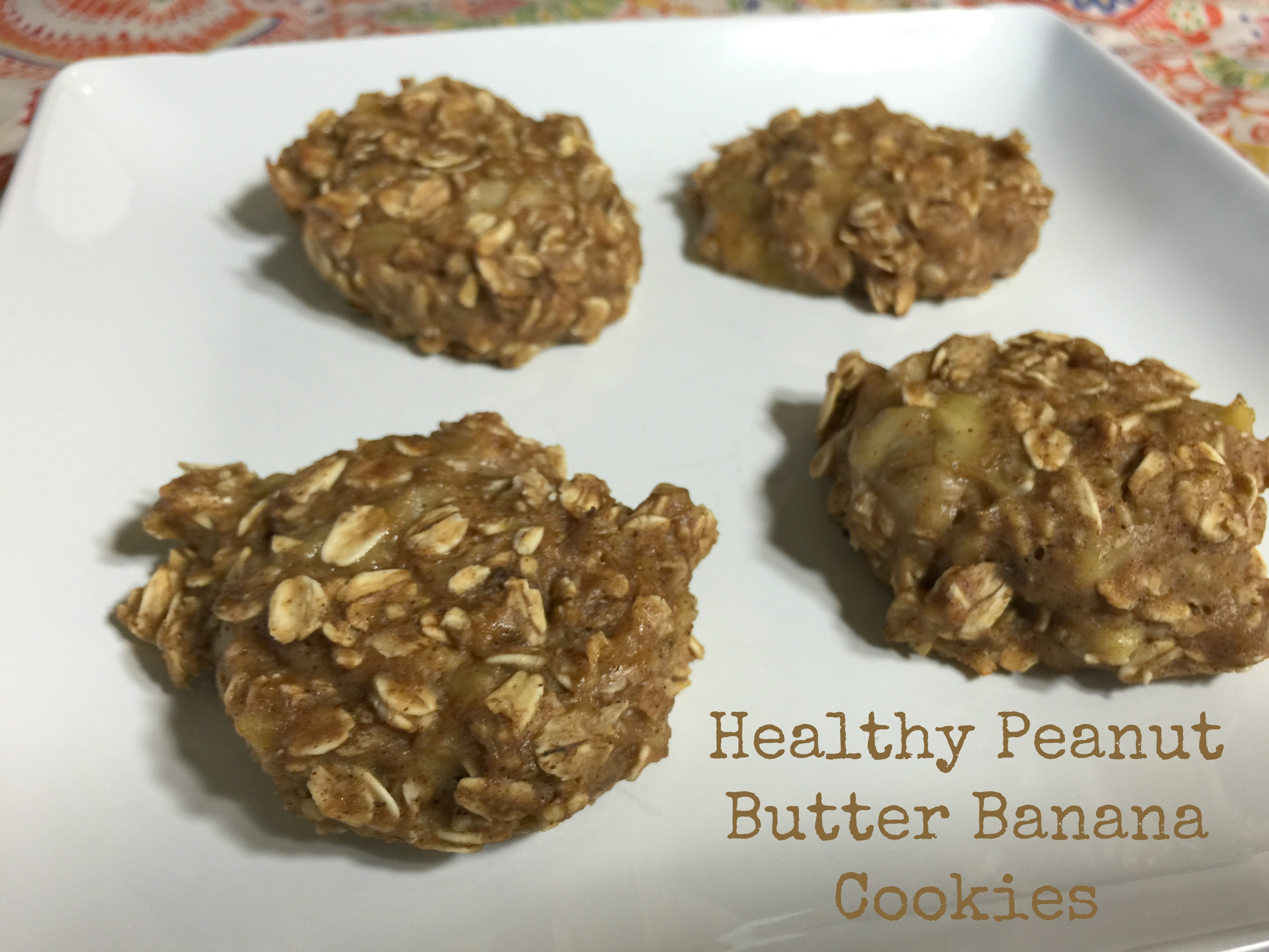 Healthy Peanut Butter Banana Cookies  Healthy Peanut Butter Banana Cookies A Sparkle of Genius