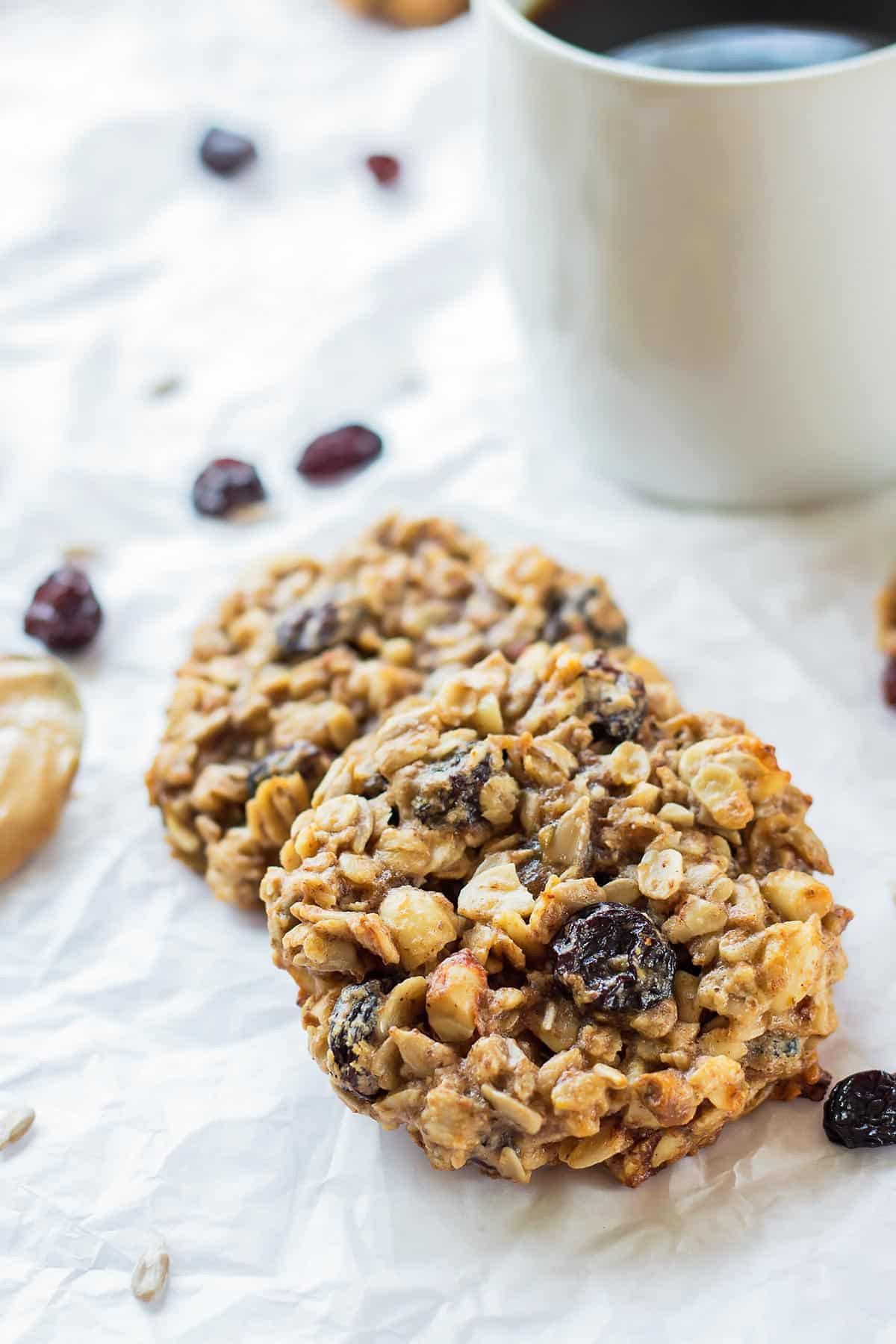 Healthy Peanut Butter Banana Cookies  Peanut Butter Banana Breakfast Cookies Vegan Leelalicious
